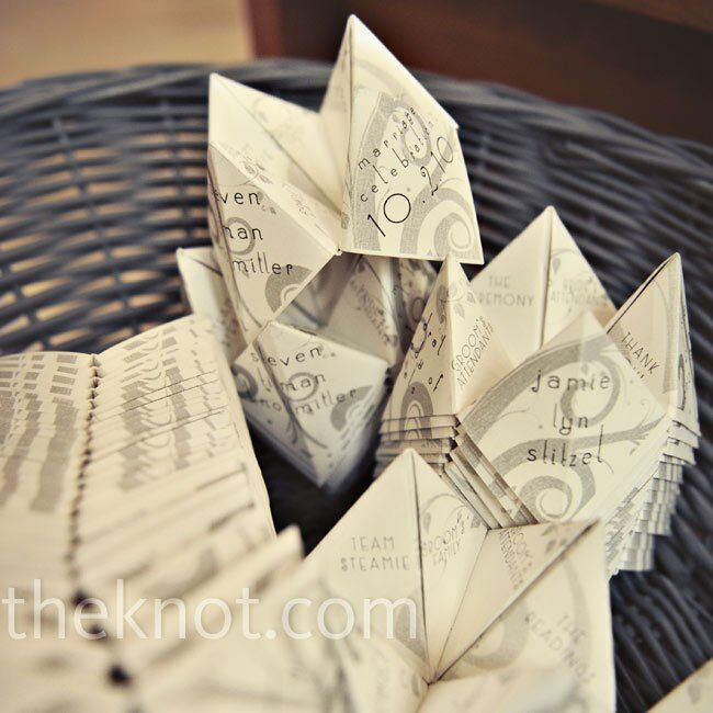 Cootie Catcher Wedding Programs Favorite They Were Folded Into Catchers And Displayed In A Basket At The Ceremony