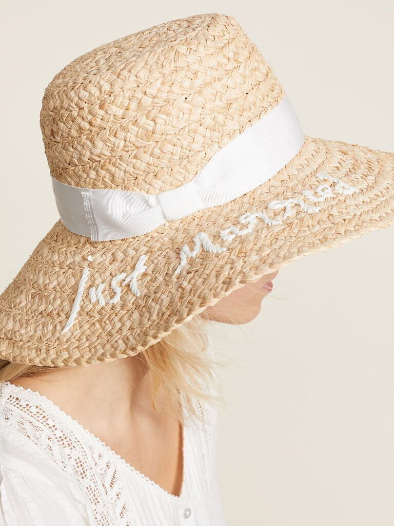 cf847c1e3 Floppy Sun Hats With Writing for Honeymoon, Bachelorette Party