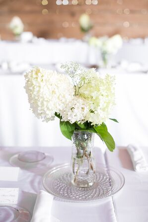 Modern, White Flower Centerpieces