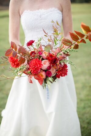 Bold Red Hand-Tied Bouquet