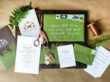 Thank-you note and invitation suite