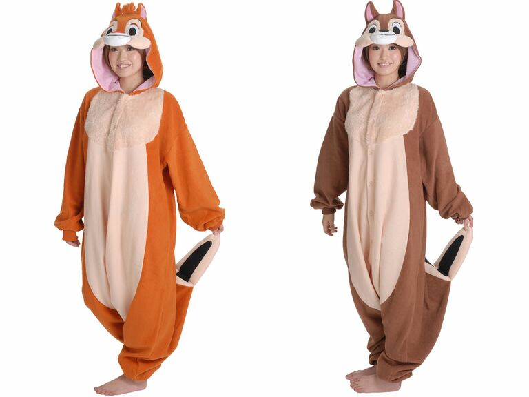 Disney couple costumes chip and dale