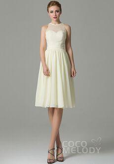 CocoMelody Bridesmaid Dresses COZK16003 Illusion Bridesmaid Dress