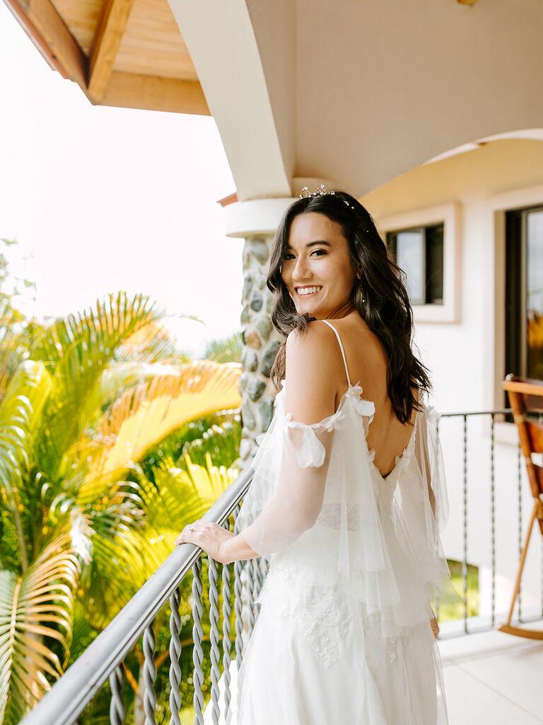 Eco-friendly wedding dress back