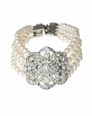 Thomas Laine Ben-Amun Pearl and Vintage Deco Crystal Bracelet Wedding Bracelet photo