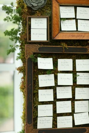 Living Wall Escort Card Display
