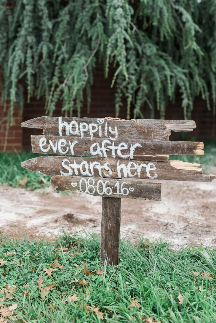 Rustic Happily Ever After Wood Sign
