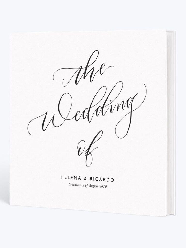 Timeless wedding photo book