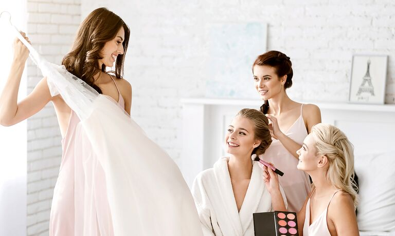 Bridal Party getting ready