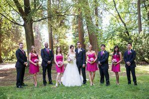 Vibrant Pink Wedding Party