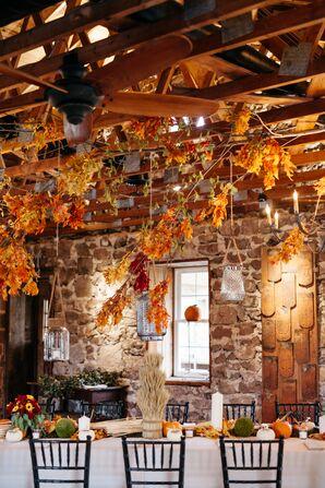Fall-Themed Reception Decoration