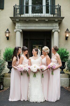 Blush Joanna August Bridesmaid Gowns