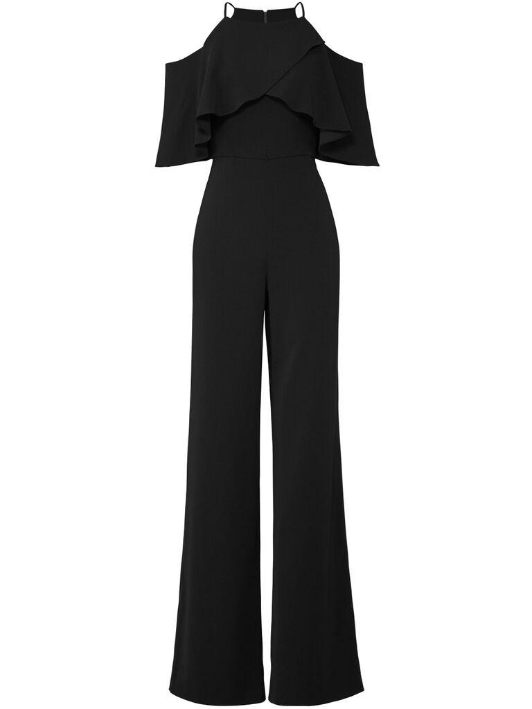 mishka off the shoulder black jumpsuit