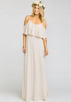 4ed0c6f604b ... Dancing Queen Shine Copper Scoop Bridesmaid Dress. Show Me Your Mumu  Caitlin Ruffle Maxi Dress - Show Me the Ring Crisp Scoop Bridesmaid