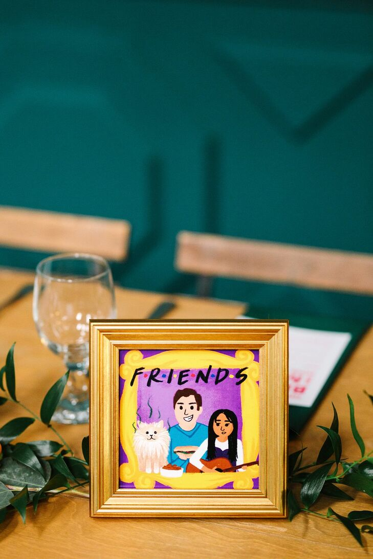 Television-Inspired Table Number for California Wedding