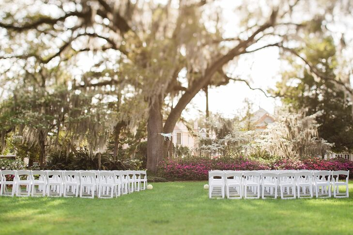 Simple White Ceremony Chairs
