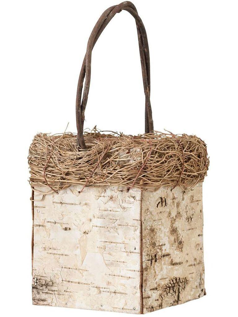 birch square basket