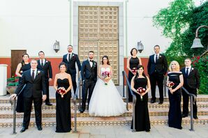 Elegant, Simple Black and White Wedding Party