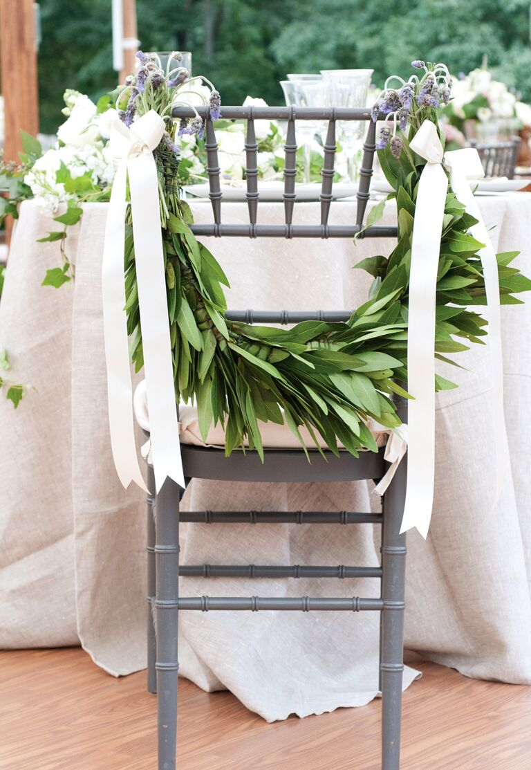 Leafy chair garland