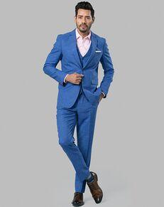 Menguin Blue Chambray Suit Blue Tuxedo