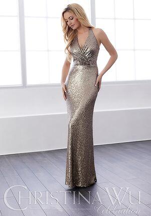 Christina Wu 22809 V-Neck Bridesmaid Dress