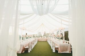 Romantic London West Hollywood Rooftop Reception