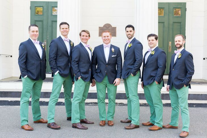 Navy Jackets and Green Pants