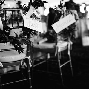 Just Married Chair Signs
