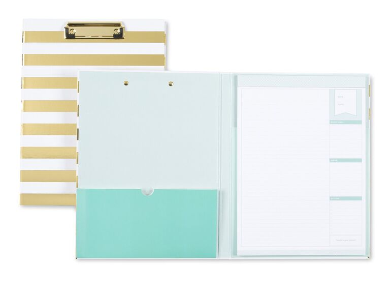 Blue Sky day designer with gold foil clipboard cover
