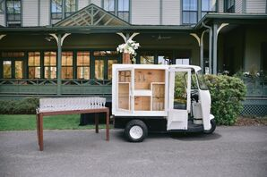 Mobile Bar for Wedding at The Forest Lake Club in Pennsylvania