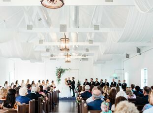 Morgan Crissman and Matthew Schnell's wedding was a modern garden affair with lush greenery and vibrant pops of color.<br><br>With the help of the pla