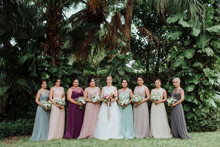 Same Bridesmaid Dress Style in Varying Colors