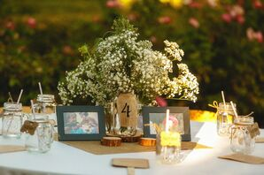 Oversize Baby's Breath Reception Centerpieces