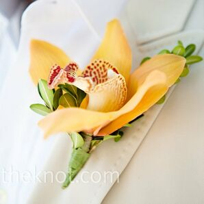 Orange Lily Boutonniere