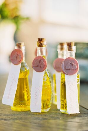 Olive Oil Wedding Favors at Cordiano Winery in Escondido, California