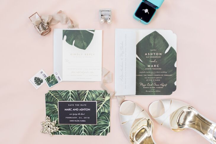 Monstera Leaf Invitations