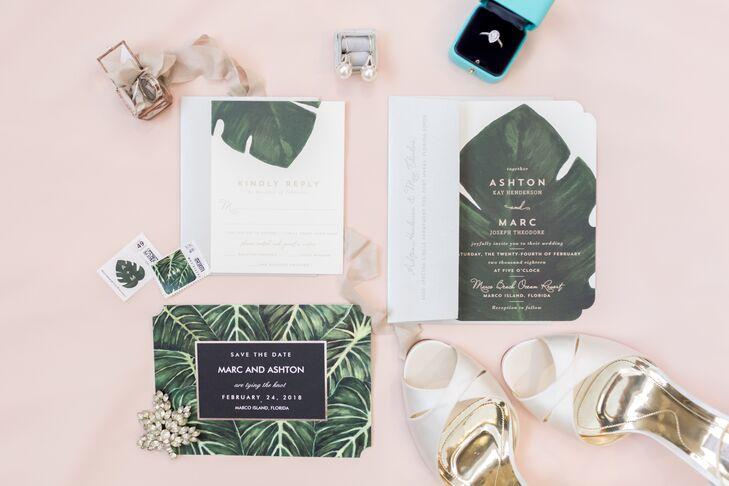 Monstera Leaf Invitations