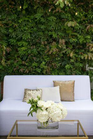 Modern, White Lounge Seating at Reception