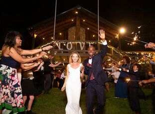Casandra Walker and Gerald Mathews lived in Los Angeles for over a decade, but they returned to their hometown for a wedding at Rock' N Dollar Ranch.
