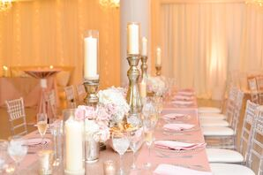 Candles and Roses Centerpieces