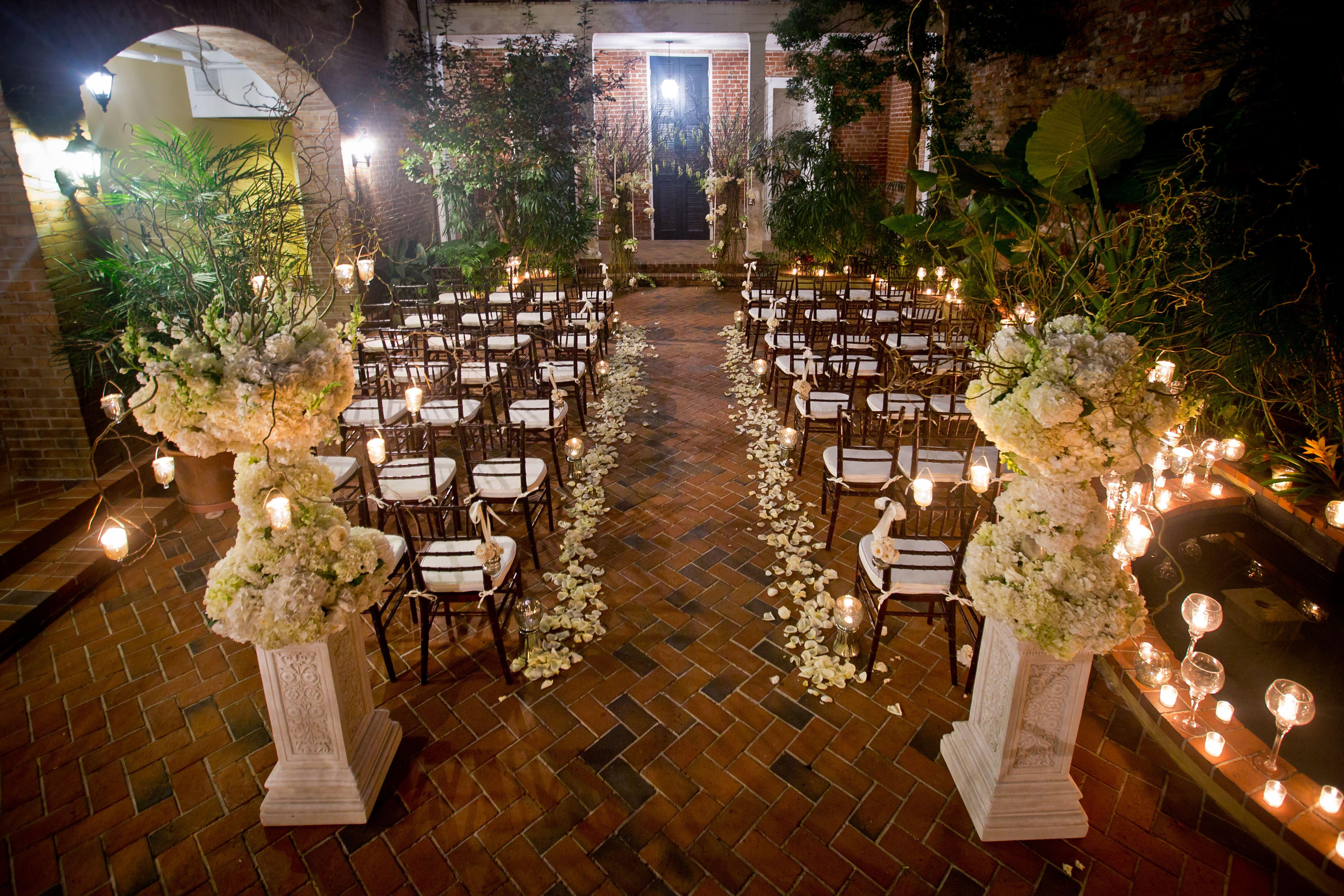 French Quarter Courtyard Wedding Ceremony Deweddingjpg Com