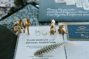 Animal Figurines at Eclectic California Wedding