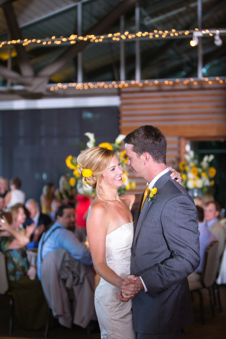 The newlyweds chose Ben E. King's Stand by Me for their first dance as husband and wife.