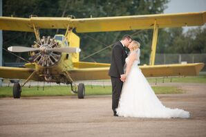 Couple's Shot with Vintage Airplane
