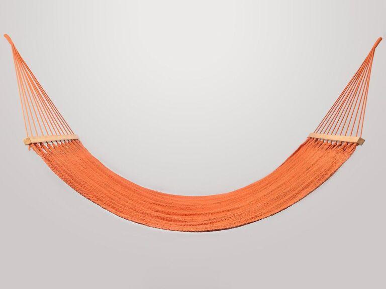 Bright coral-orange hammock 35th anniversary gift idea