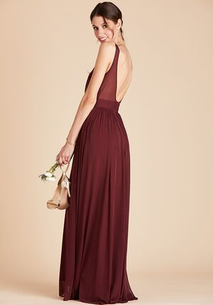 Birdy Grey Jan Scoop Back Dress in Cabernet Scoop Bridesmaid Dress