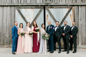 Bohemian Wedding Party in Mixed Attire