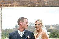 Allie (28 and a boutique manager) and Adam (32 and a technical instructor) love hiking and wine, so they tied the knot with a wine unity ceremony on a