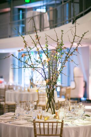 Tall Centerpieces with Branches