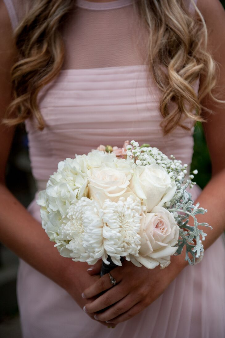 White Rose and Chrysanthemum Bouquet